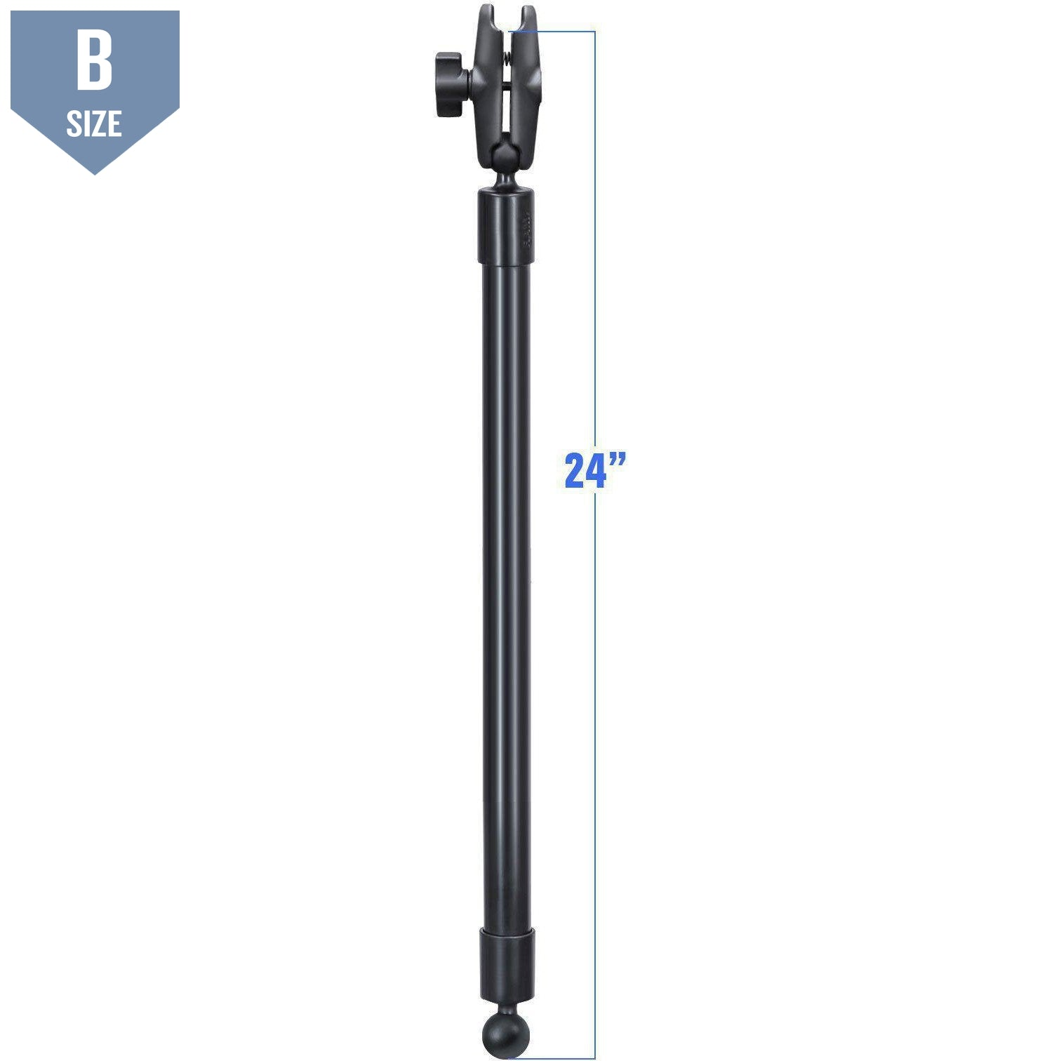 "RAM 24"" Pole Double Socket Arm (RAP-BB-230-24-201U)-Modest Mounts"