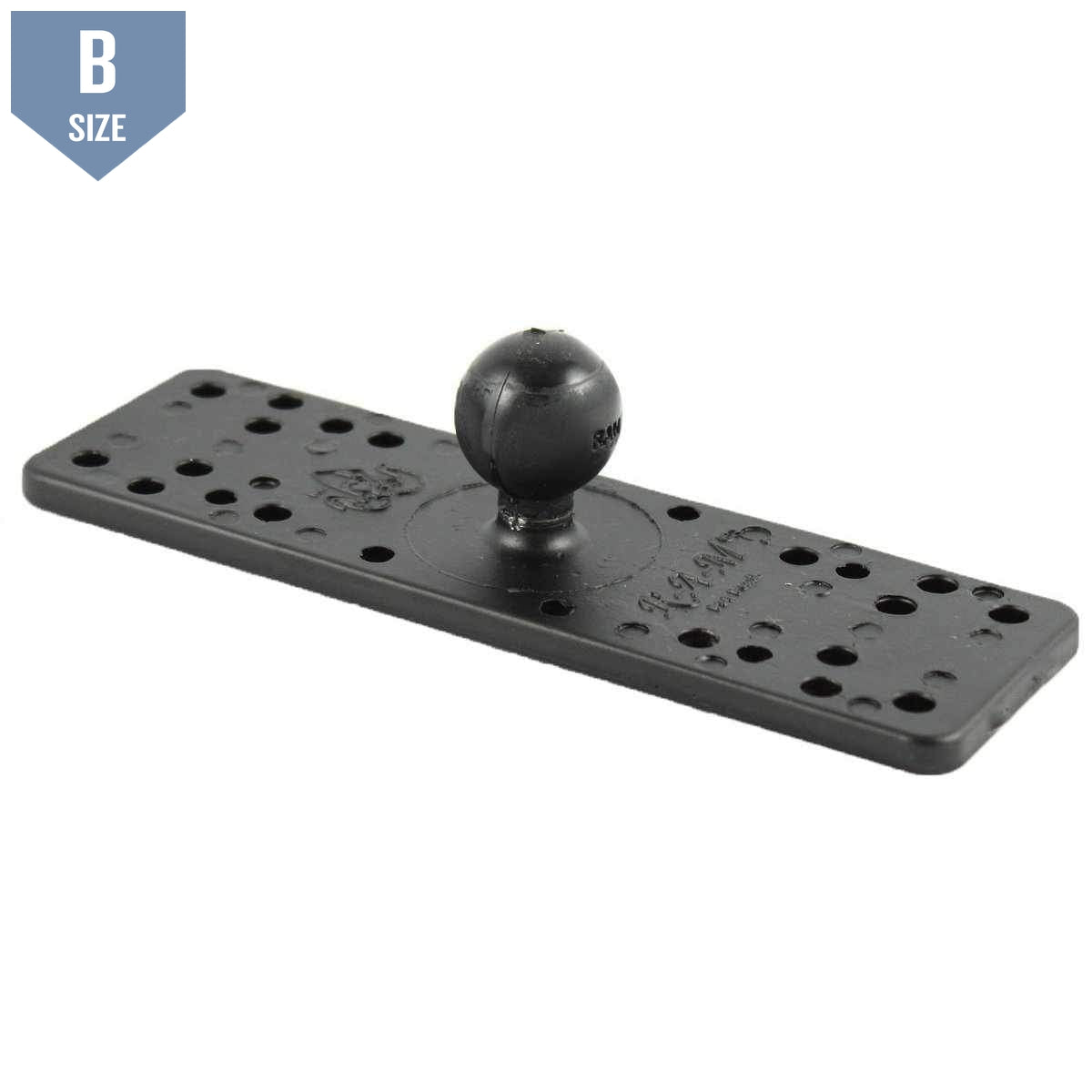 "RAM 6.25"" X 2"" Rectangle Base with 1"" Ball (RAM-B-111BU) - Modest Mounts"