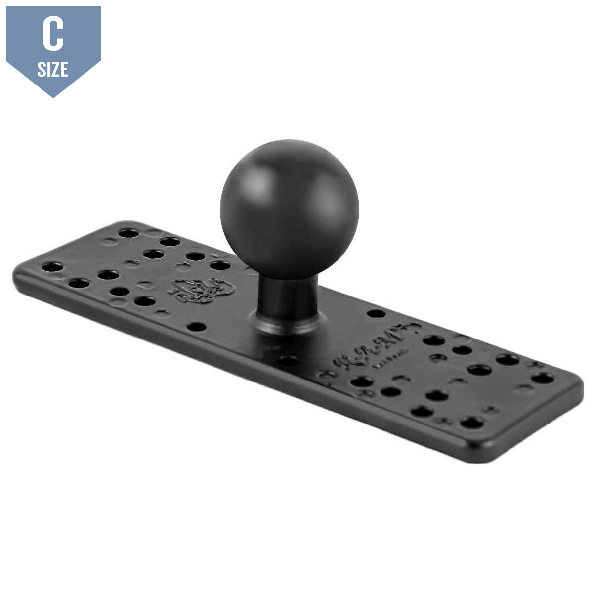 "RAM 6.25"" x 2"" Universal Electronics Base with 1.5"" Ball (RAM-111BU)-Modest Mounts"