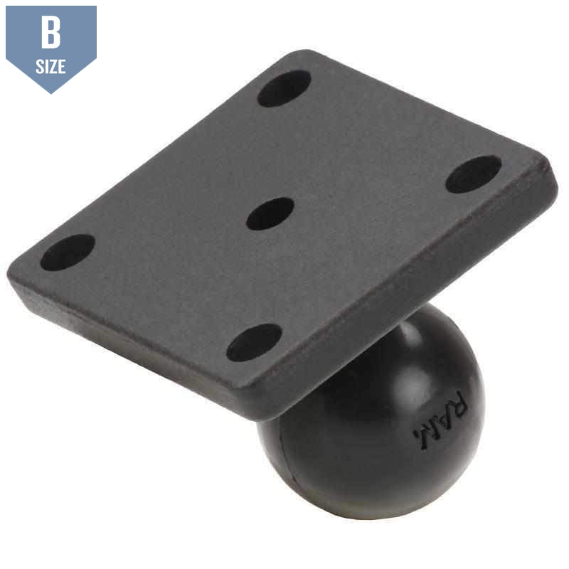 "RAM Square Base with 1"" B Ball (RAM-B-347U) - Modest Mounts"