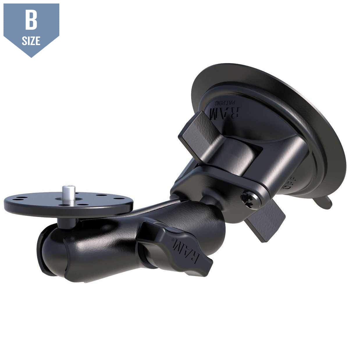 RAM Camera Plate Suction Cup Mount (RAM-B-166-202AU) - Modest Mounts