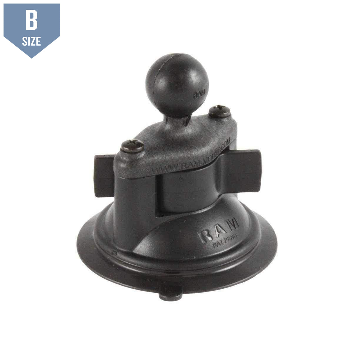 "RAM Composite Suction Cup Base w 1"" Ball (RAP-B-224-1U) - Modest Mounts"