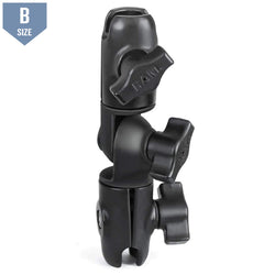 RAM Double Socket Swivel Arm - B Size (RAP-B-200-2U)
