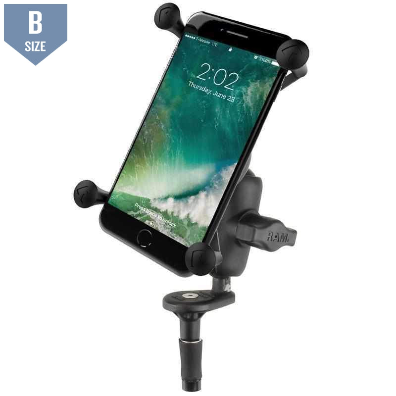 RAM Fork Stem Mount w Large X-Grip Phone Cradle (RAM-B-176-A-UN10U)
