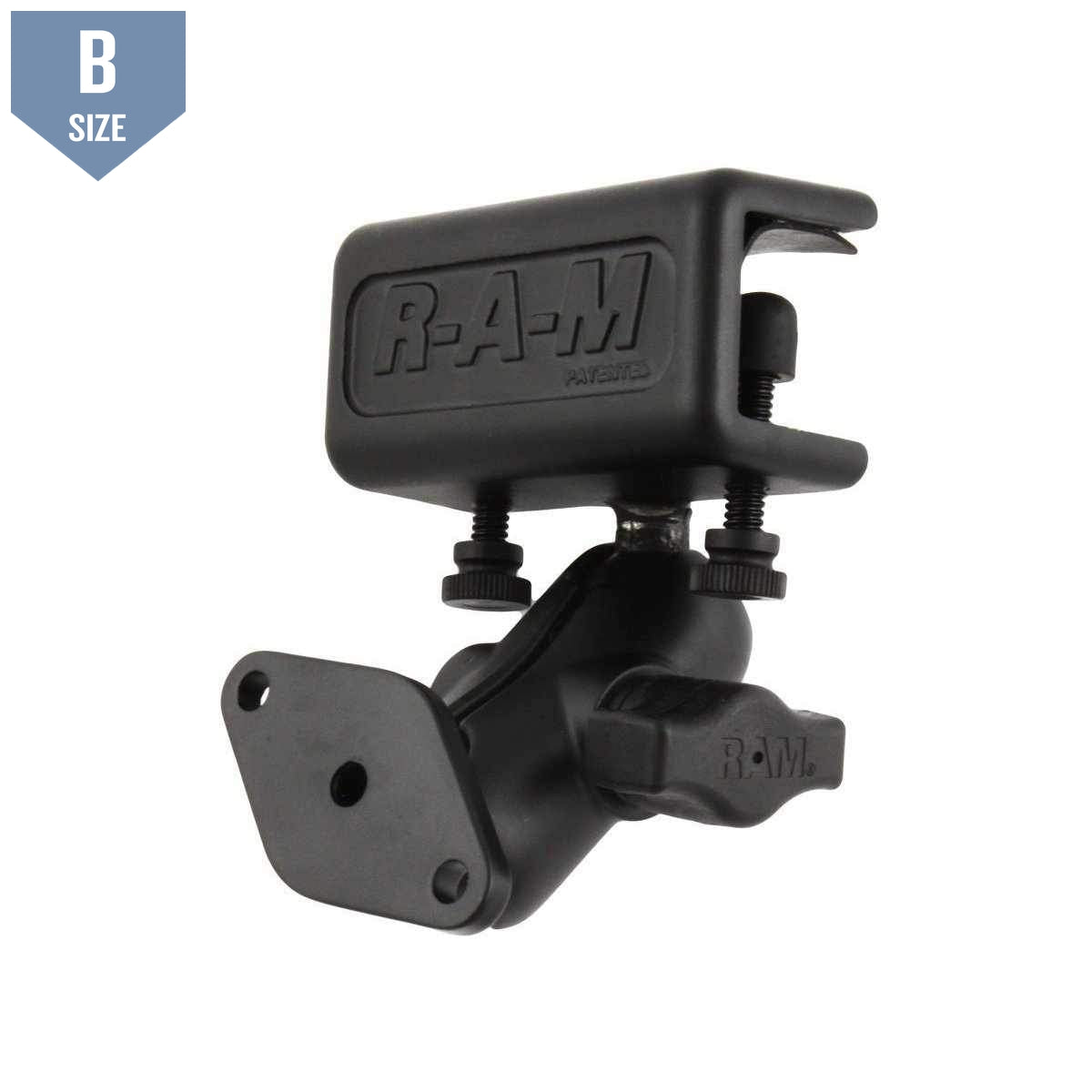 RAM Glare Shield Short Arm Mount w Diamond Base (RAM-B-177U) - Modest Mounts