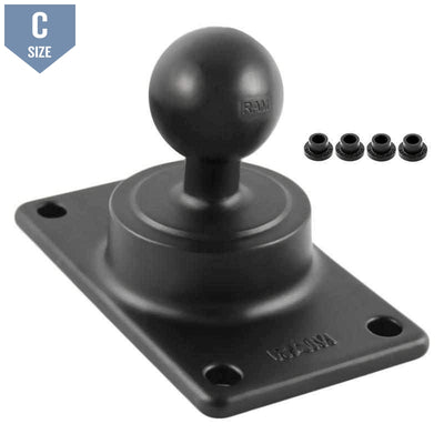 RAM 50x100mm VESA Plate with C Ball (RAM-243U) - Modest Mounts