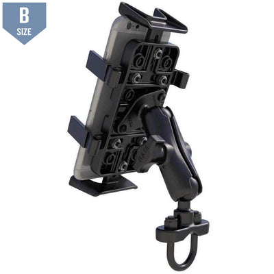 RAM Handlebar Mount w Finger-Grip Phone Holder (RAM-B-149Z-UN4U)-Modest Mounts