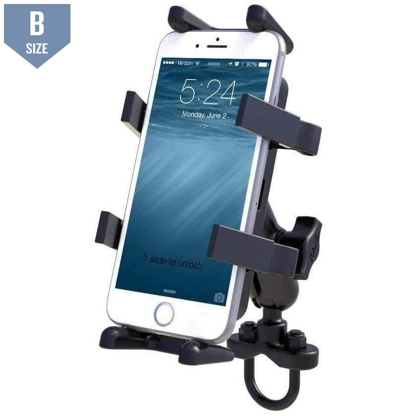RAM Handlebar Mount w Finger-Grip Phone Holder (RAM-B-149Z-UN4U) - Modest Mounts