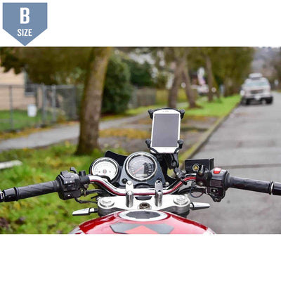 RAM Handlebar Mount w U-Bolt & Large X-Grip (RAM-B-149Z-UN10U) - Modest Mounts