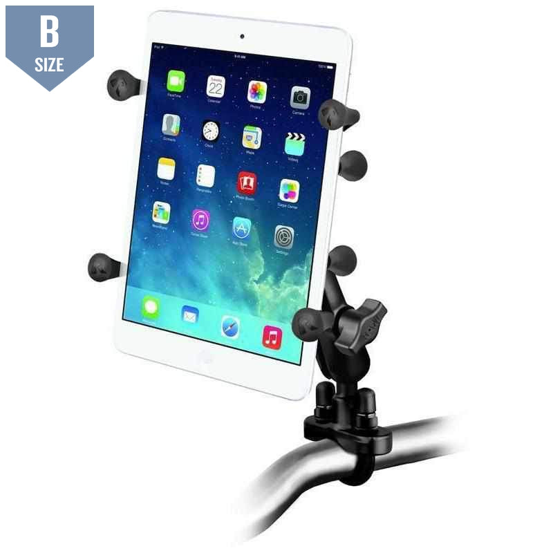 "RAM Handlebar Mount w U-Bolt & X-Grip for 7"" Tablets (RAM-B-149Z-UN8U)-Modest Mounts"