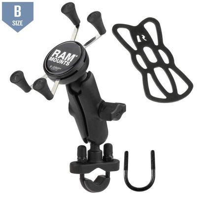 RAM Handlebar Mount w U-Bolt & X-Grip (RAM-B-149Z-UN7U) - Modest Mounts