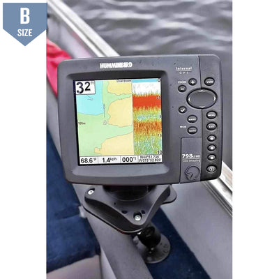 "RAM Marine Mount for Lowrance & Humminbird w 1"" Ball (RAM-B-107U)-Modest Mounts"