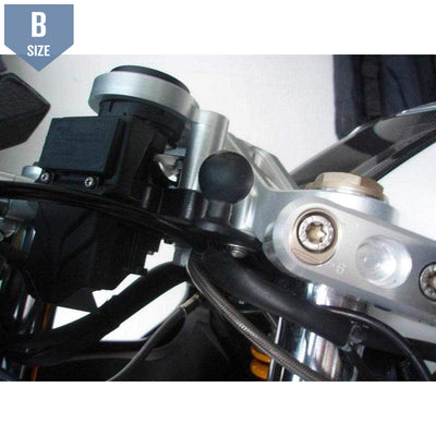 "RAM Motorcycle Base with 11mm hole and 1"" Ball (RAM-B-252U) - Modest Mounts"