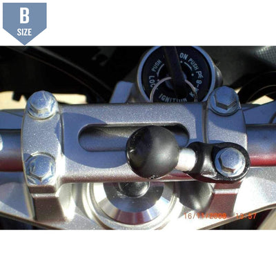 "RAM Motorcycle Base with 9mm Hole and 1"" Ball (RAM-B-272U)-Modest Mounts"