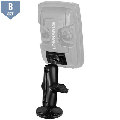 RAM Mount for Lowrance Elite-4 & Mark-4 Fishfinders (RAM-B-101-LO11) - Modest Mounts