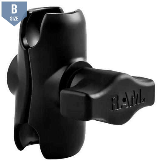 RAM Short Double Socket Clamp Arm B Size (RAM-B-201U-A)-Modest Mounts