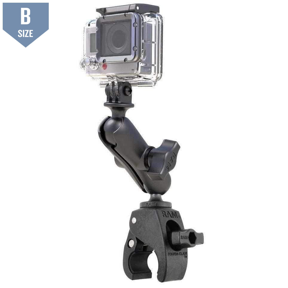 RAM Small Tough-Claw™ Mount w GoPro Adapter (RAP-B-400-GOP1U) - Modest Mounts