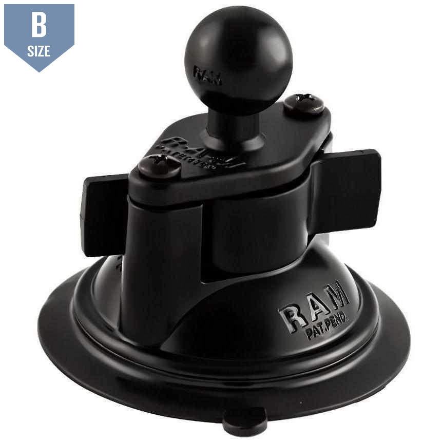 "RAM Suction Cup Base w 1"" Ball (RAM-B-224-1U) - Modest Mounts"