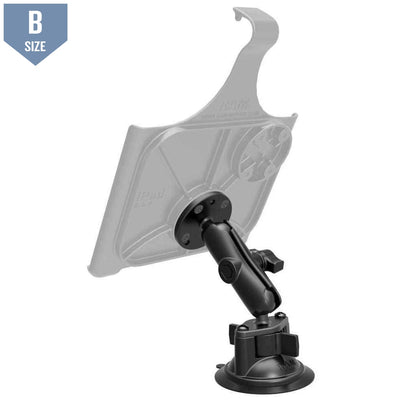 RAM Suction Cup Mount w Arm & Round Adapter (RAM-B-166-202U)