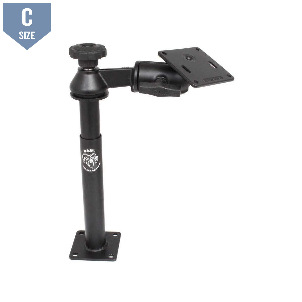 RAM Swing Arm w Male & Female Tele-Pole 75mm VESA (RAM-VP-SW2-89-2461) - Modest Mounts