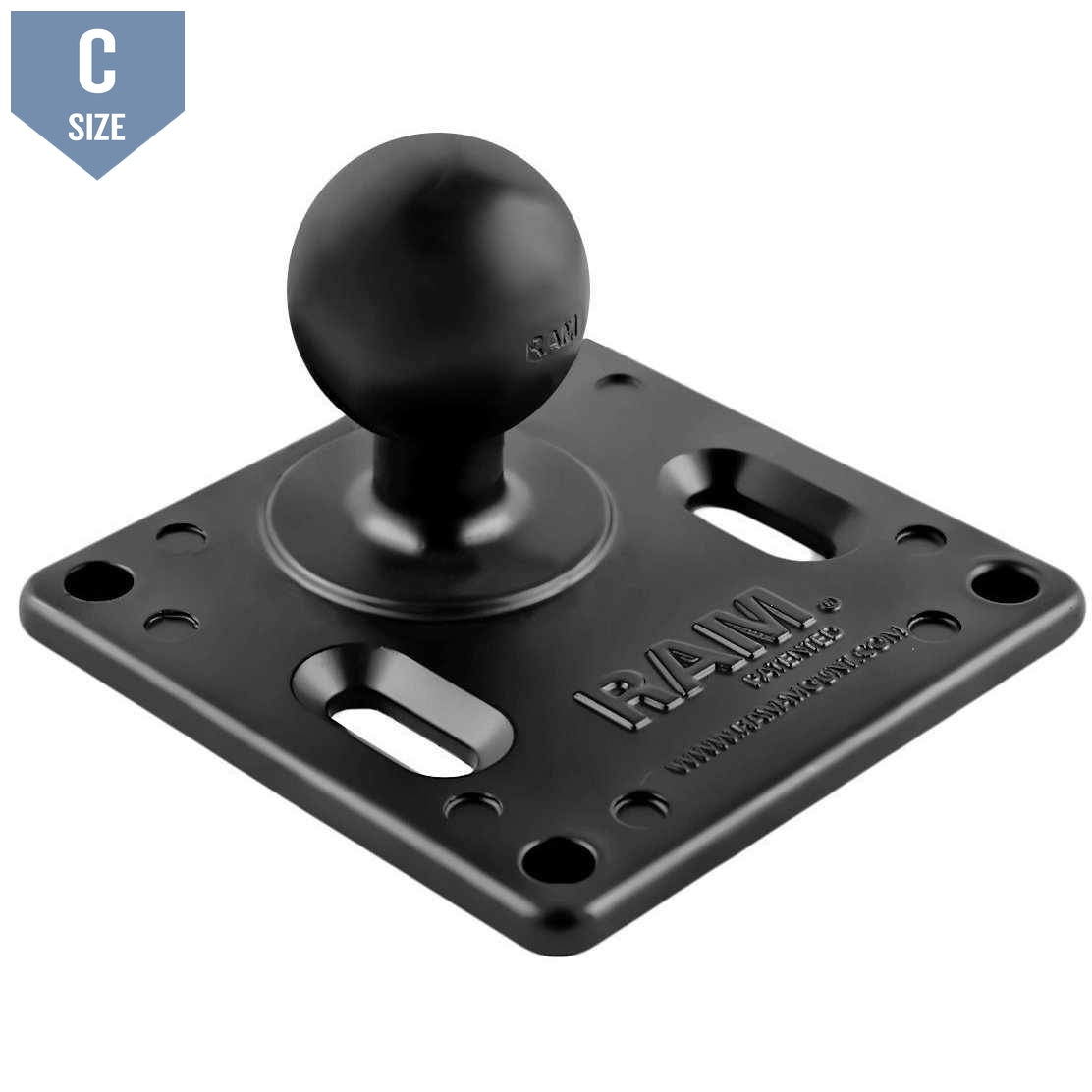 RAM 75x75mm VESA Plate with C Ball (RAM-2461U) - Modest Mounts
