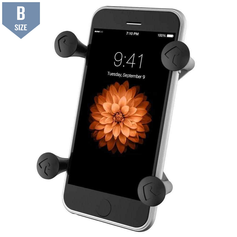 RAM X-Grip Universal Phone Holder (RAM-HOL-UN7BU)-Modest Mounts