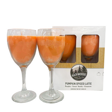 Pumpkin Spice Latte Wine Glass Set