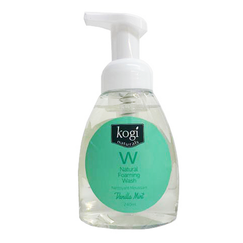 Vanilla mint foaming wash