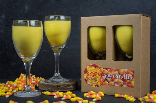Candy corn wine glass