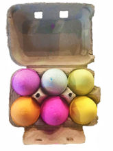 6 pack egg bathbombs