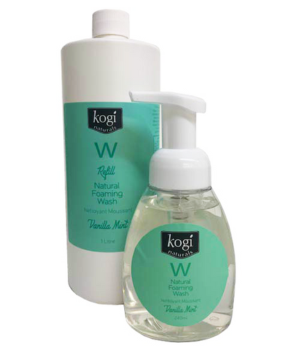 Vanilla mint foaming wash and refill