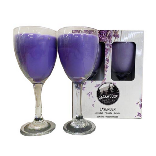 Lavender Wine Glass Set