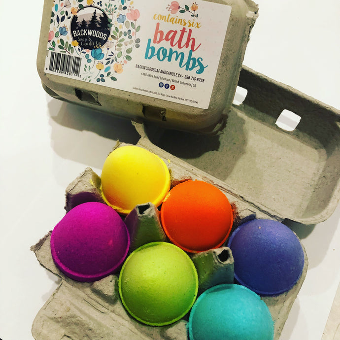 6 pack Easter egg bathbombs
