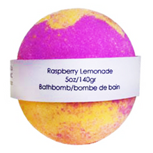Raspberry lemonade bathbomb