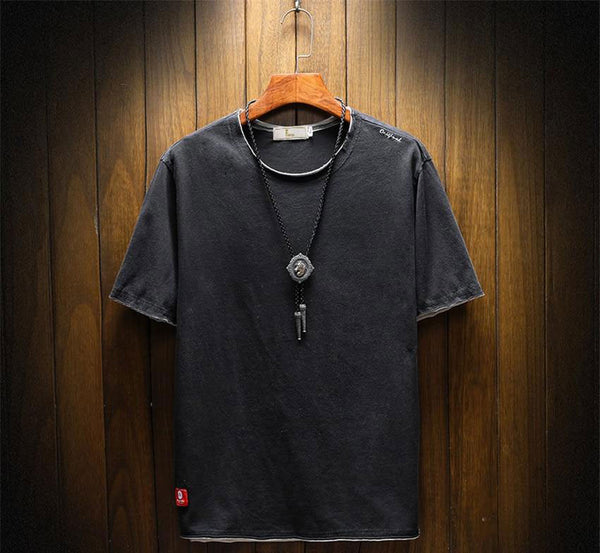 Nelson - Distressed Round Neck Tee