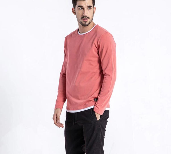 Beckett - Round Neck Double Layer Sweater