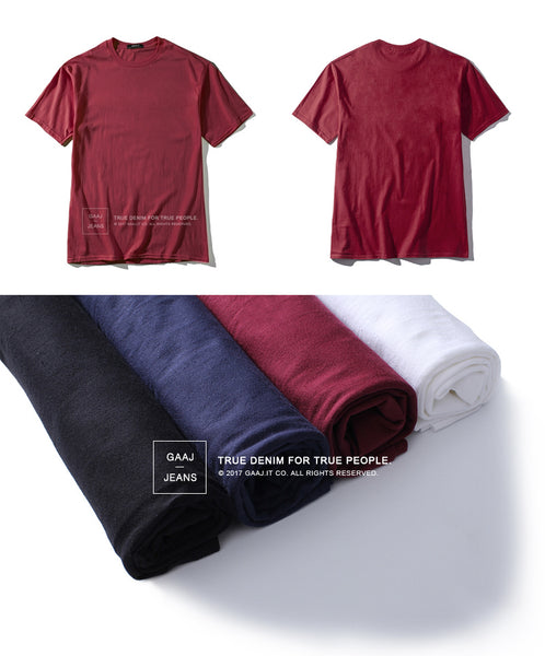 Ackley - Casual Plain O-Neck Tees