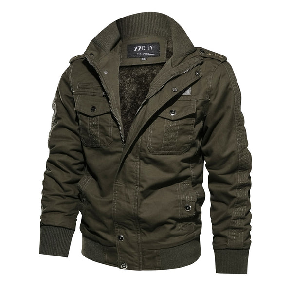 Wesley - Casual Stand Collar Military Jacket