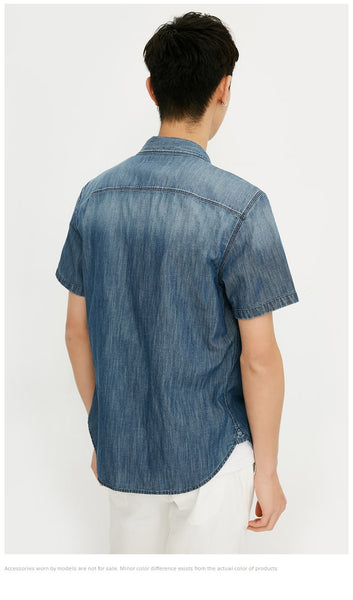 Seth - Collared Denim T-Shirt