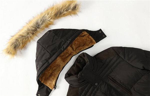 Dewey - Detachable Fur Hood Thick Winter Jacket