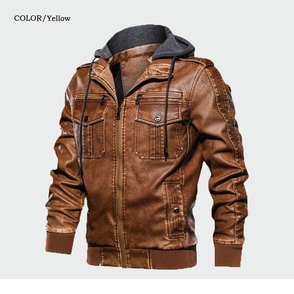 Malcolm - Casual Hooded Motorcycle Jacket
