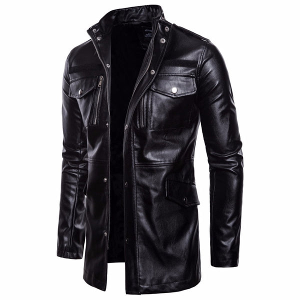 Ander - Mid Long Vintage Motorcycle Jacket