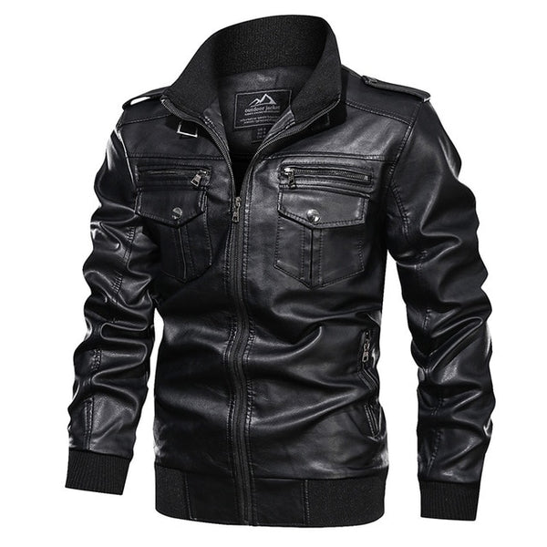 Greg - Vintage Motorcycle Leather Jacket