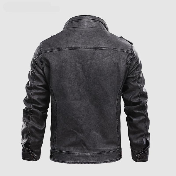 Kelveen - Stand Collar Motorcycle Jacket