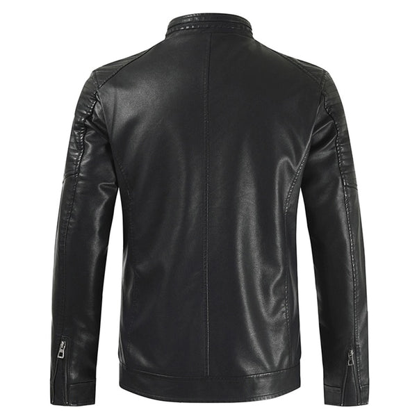 Emilio - Vintage Casual Fleece Leather Jacket
