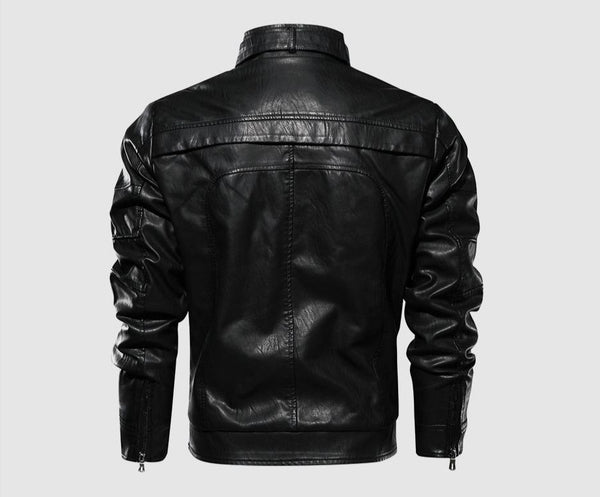 Marvin - Stand Collar Motorcycle Jacket