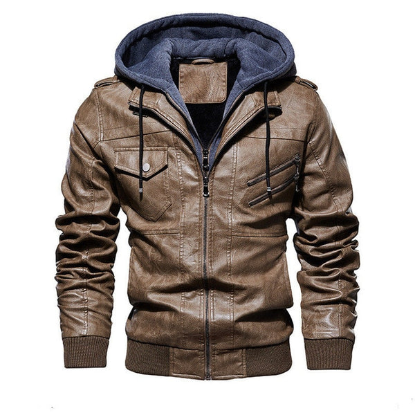 Russell - Hooded Motorcycle Jacket
