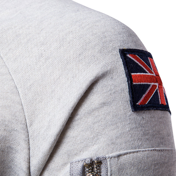 UK Flag Shoulder Hoodie