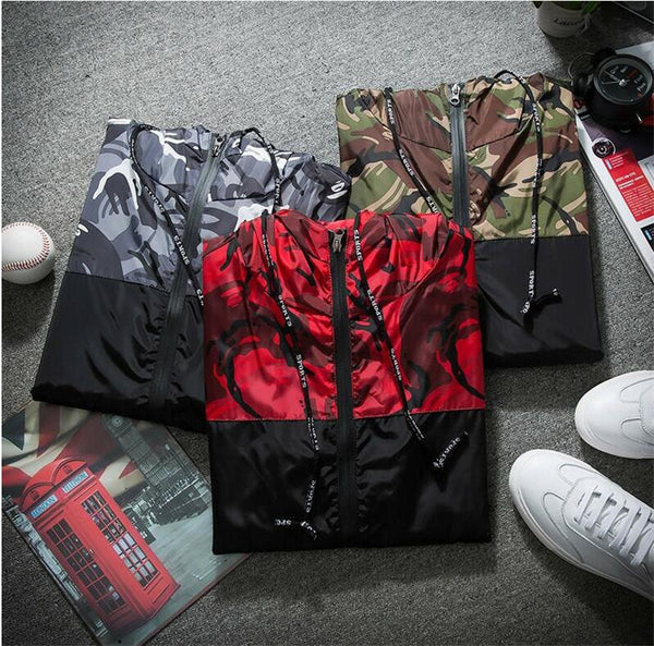 Hunter - Slim Fit Camouflage Zip-Up Jacket