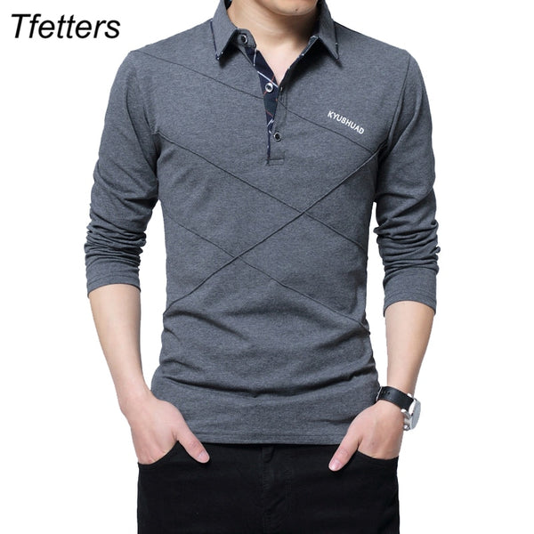 Gus - Collared Long Sleeve T-Shirt